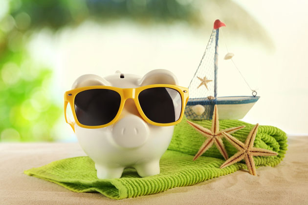 Piggy bank with ship
