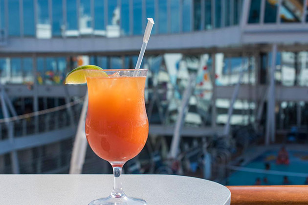 Fruity drink from Oasis of the Seas' Mast Bar