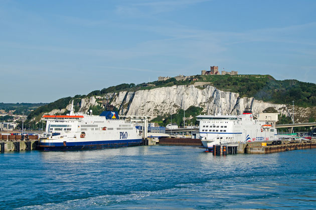 White Cliffs of Dover and Dover Castle
