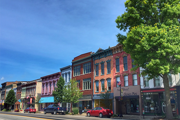 Small town of Madison, Indiana