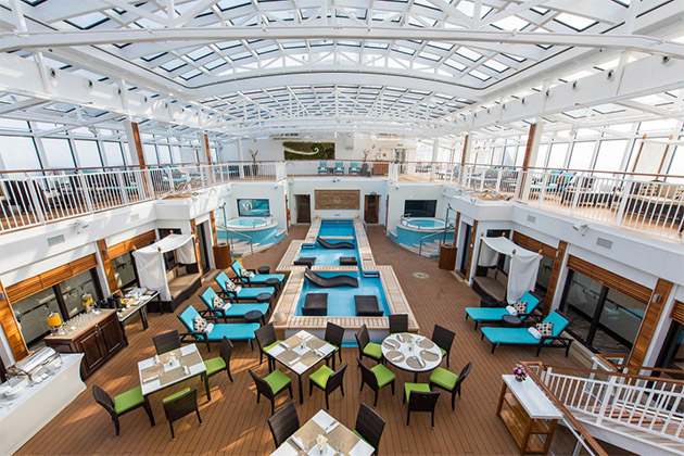 The Haven Courtyard on Norwegian Breakaway