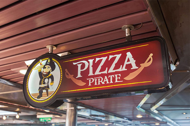 pizza pirate on carnival cruise line plus menu cruise critic