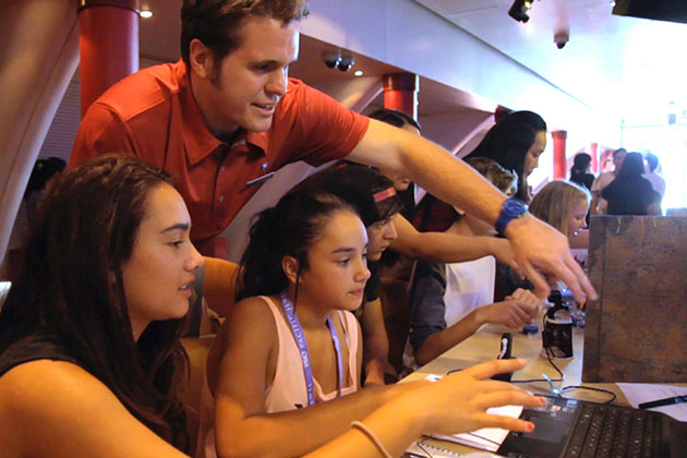Technology workshop on P&O Cruises
