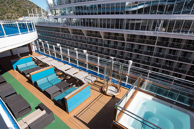 Remix Teen Club outdoor lounge on Princess Cruises