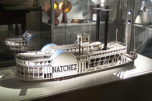 Ship model of the Natchez