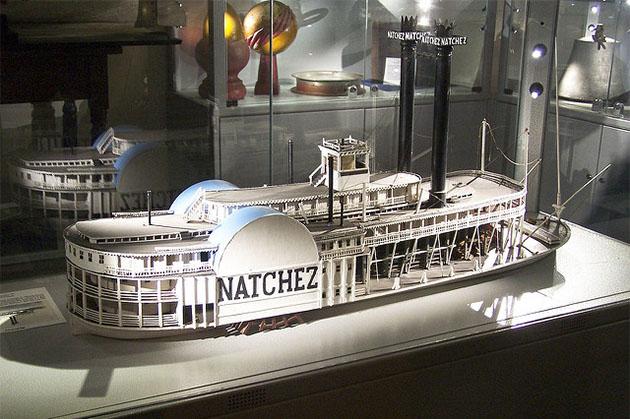 Ship model of the Natchez