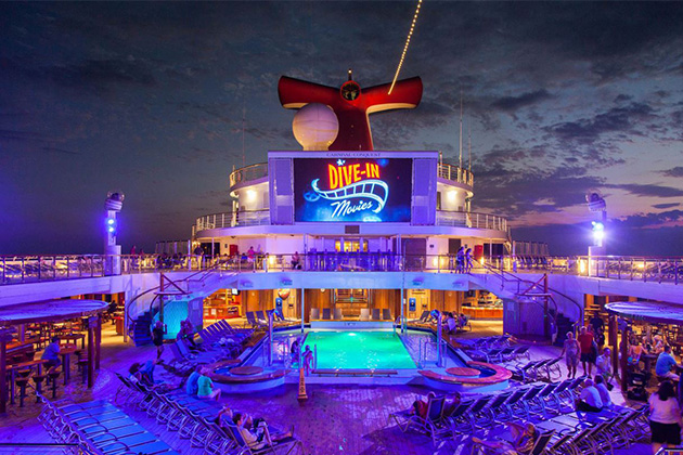 Dive In Movies At The Seaside Theater On Carnival Cruise Line