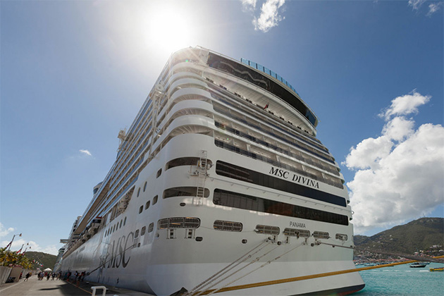 Ship Exterior on MSC Divina