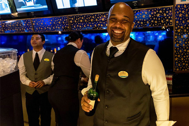 Casino bar crew member on Rhapsody of the Seas