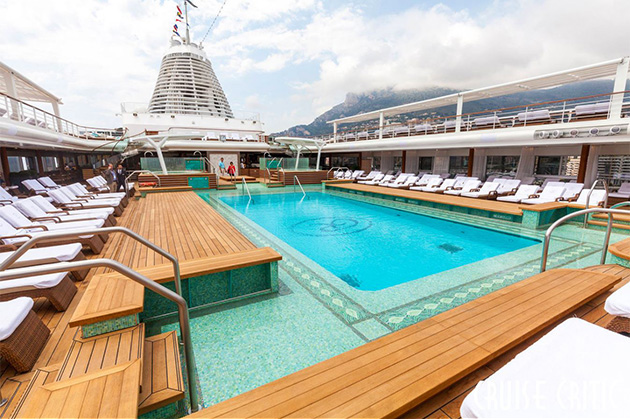 The Pool Deck on Regent's Seven Seas Explorer