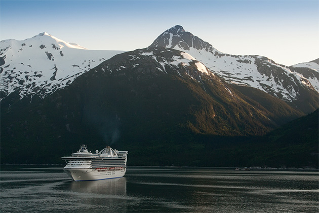 Cruise Ship in Port at Skagway, Alaska