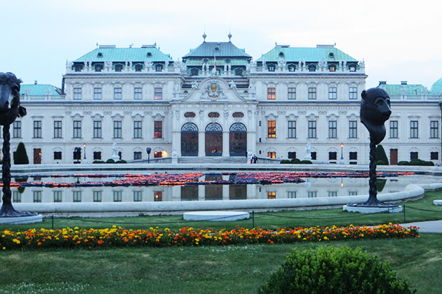 Exterior of the Belvedere Palace