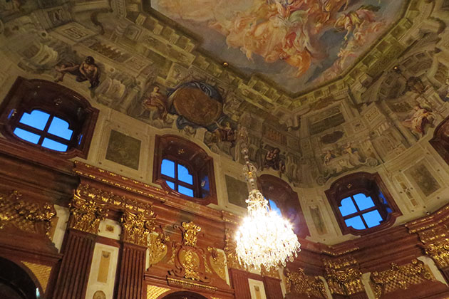 Interior shot of the Belvedere Palace