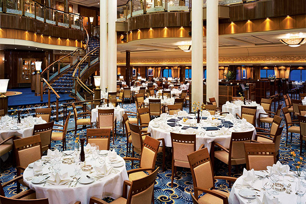 The Britannia Restaurant on Queen Mary 2