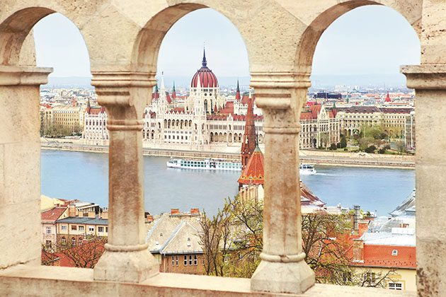Uniworld's River Beatrice in Budapest on a Danube River cruise