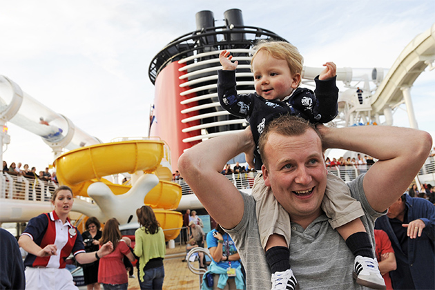 Father and son on a Disney Cruise