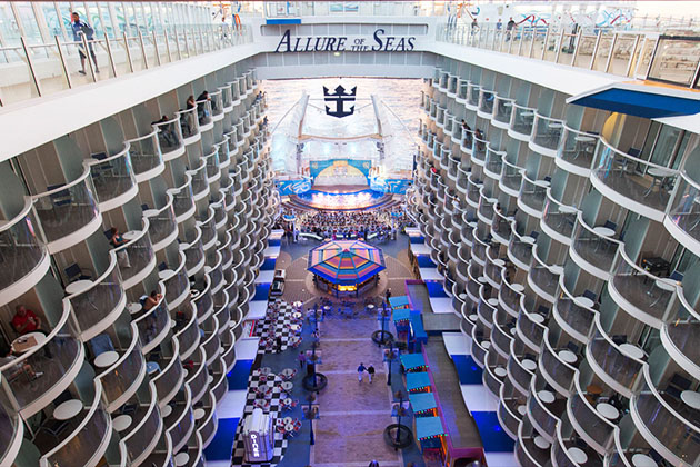 Aqua Theater and Boardwalk on Allure of the Seas
