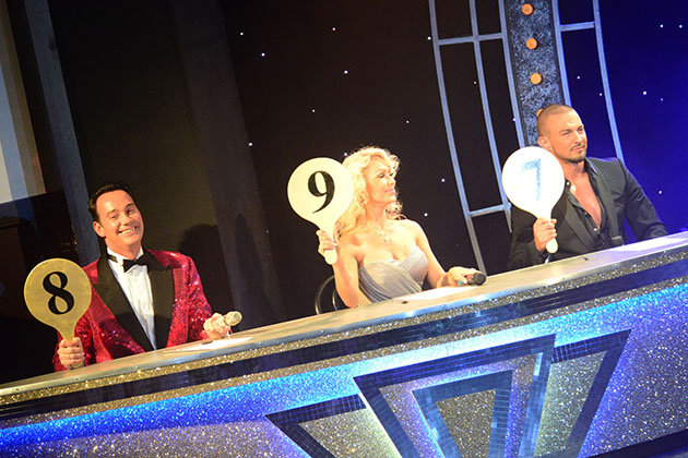 'Strictly Come Dancing' judges' table