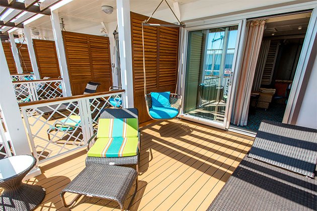 The Havana Suite Patio on Carnival Vista