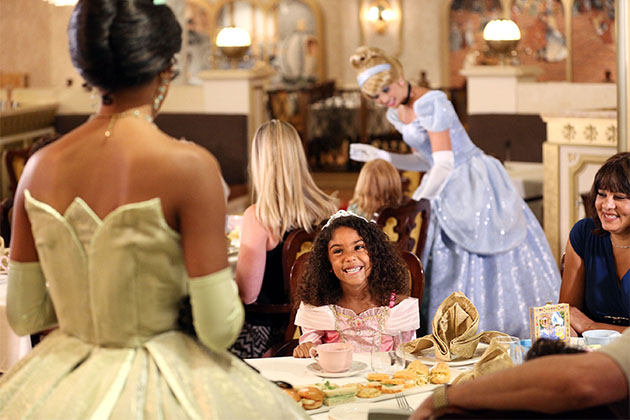 Disney Princesses at the Royal Court Royal Tea on Disney Cruise Line