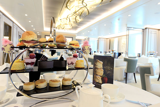 Shot of Afternoon Tea pastries by Eric Lanlard in The Epicurean on Britannia