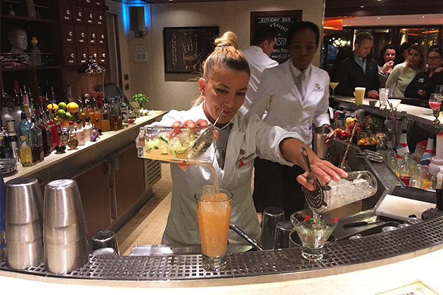 Cucumber Sunrise from Carnival Vista's Alchemy Bar