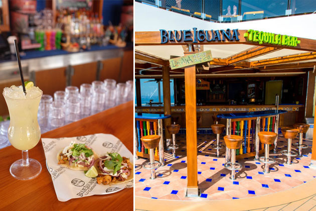 Blue's Patron Margarita at Carnival Vista's BlueIguana Tequila Bar