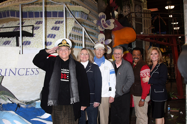 The Original Love Boat Cast decorates Princess Cruises' Rose Parade Float