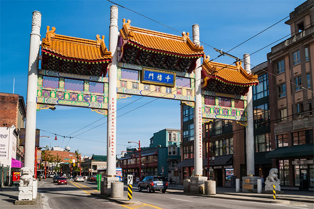 Millennium Gate on Pender Street in Chinatown in Vancouver