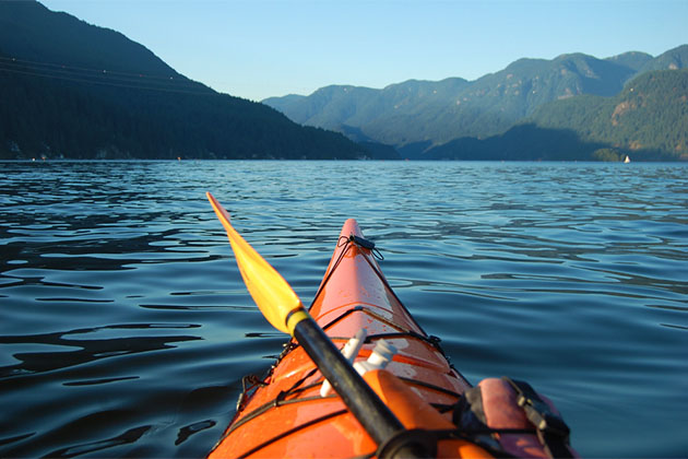 View of Indian Arm from a kayaker's perspective