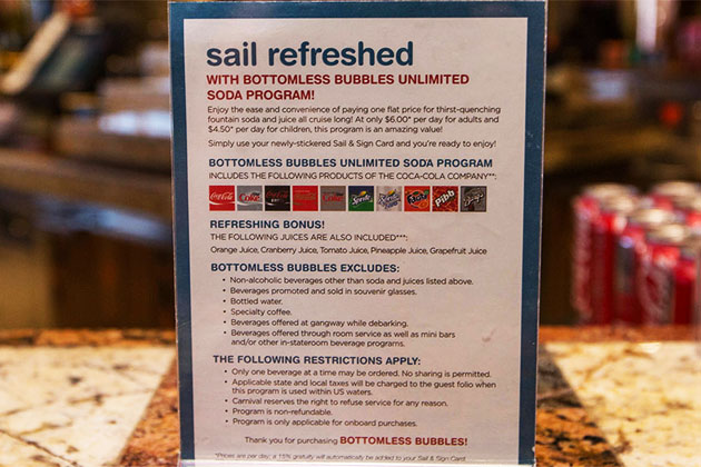 Carnival Bottomless Bubbles Package Cruise Critic