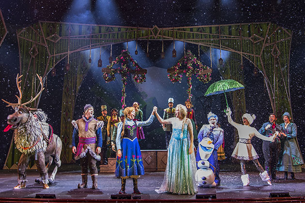 'Frozen, A Musical Spectacular' cast on stage