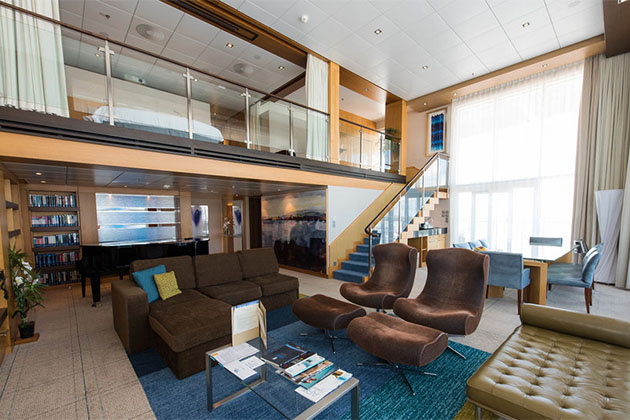 The Royal Loft Suite with Balcony on Oasis of the Seas