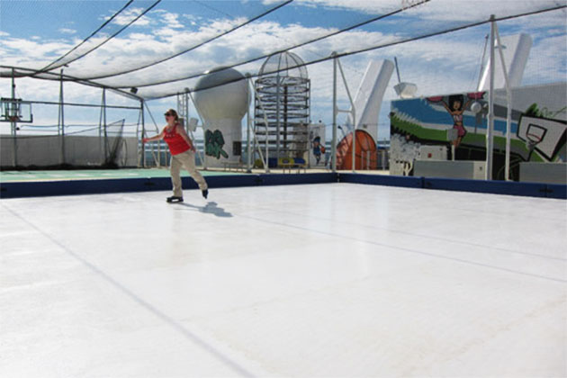 The old ice rink on Norwegian Epic