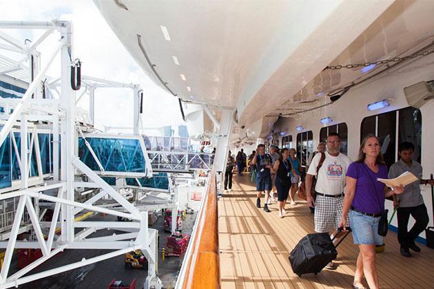 Embarkation Area on Carnival Splendor