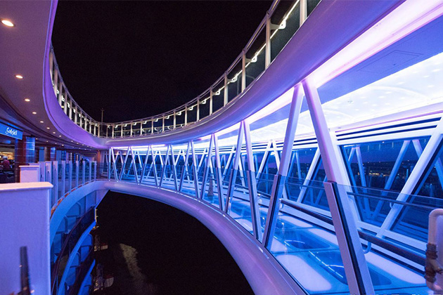 SeaWalk on Regal Princess at night