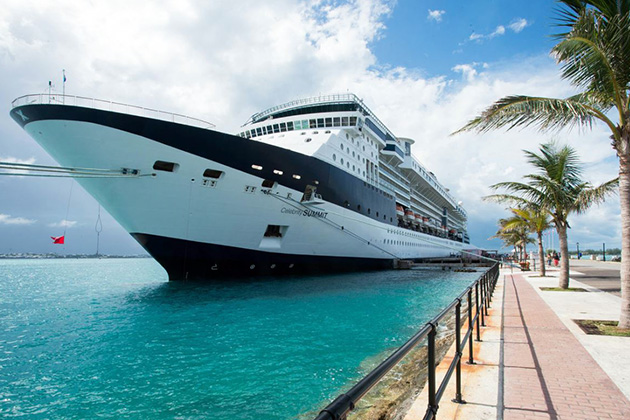 Ship Exterior of Celebrity Summit in port