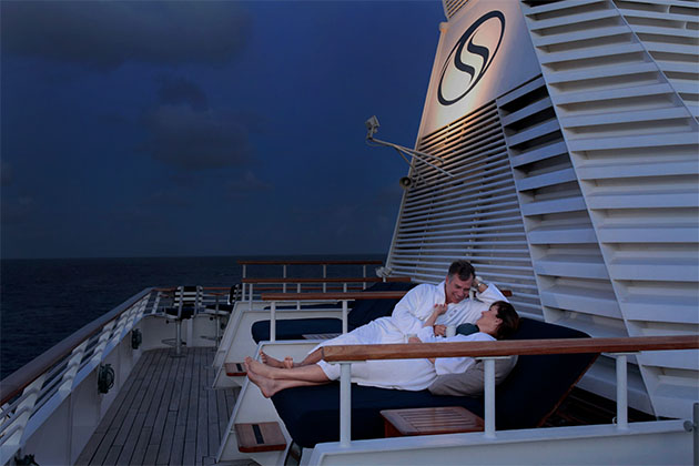 Lounging under the stars on a SeaDream cruise