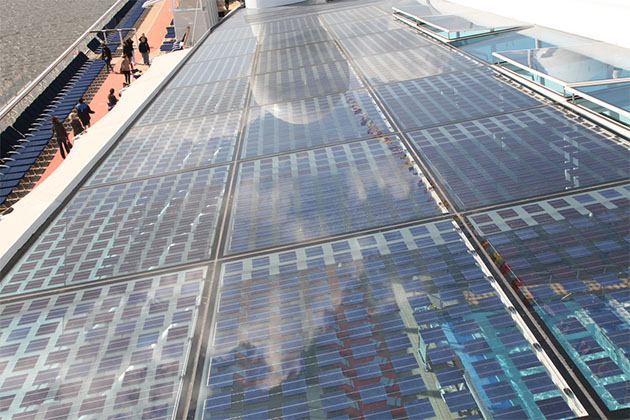 Solar panels on Celebrity Eclipse