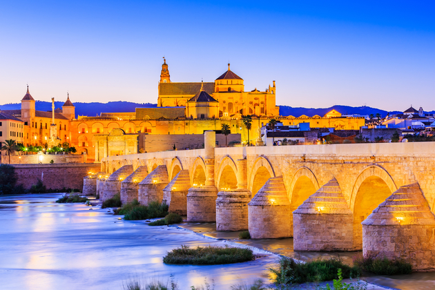 Roman Bridge on Guadalquivir river and The Great Mosque