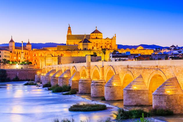 Roman Bridge on Guadalquivir river and The Great Mosque