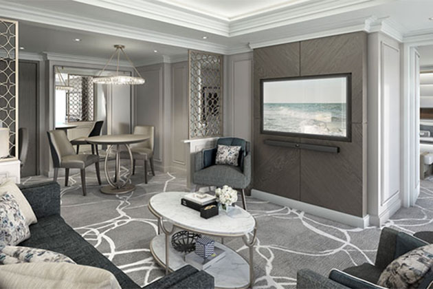 Suite cabin on Crystal Esprit