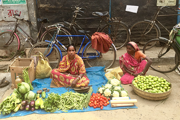 Vegetable market in India