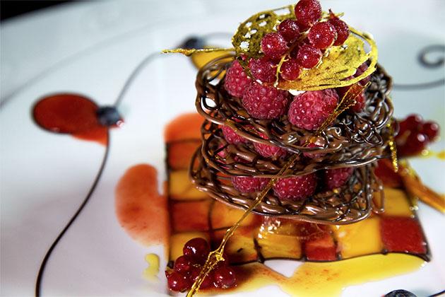 Chocolate and Raspberry Dessert