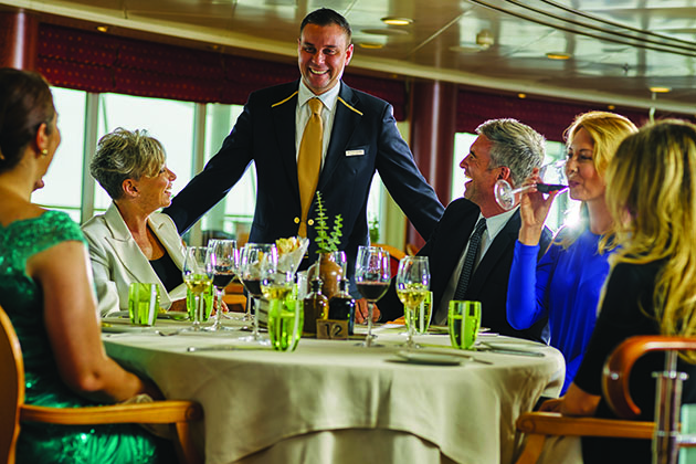 Dining on a Silversea cruise