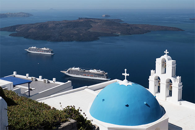 Viking cruise ships in the Mediterranean