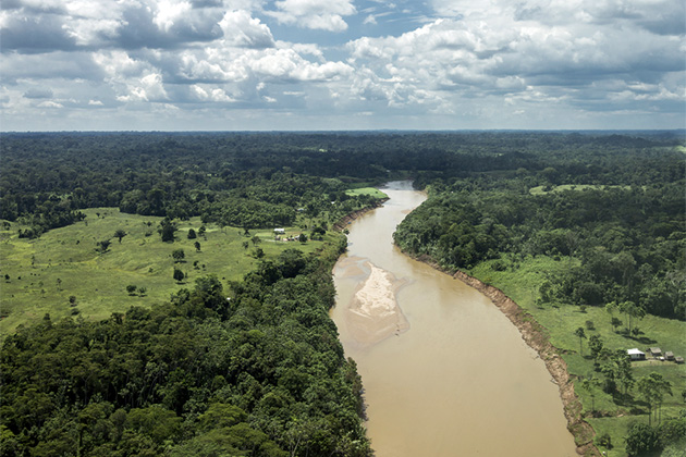 The Amazon River aerial shot