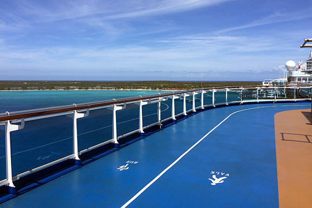 View of the Caribbean from Regal Princess' Running Track