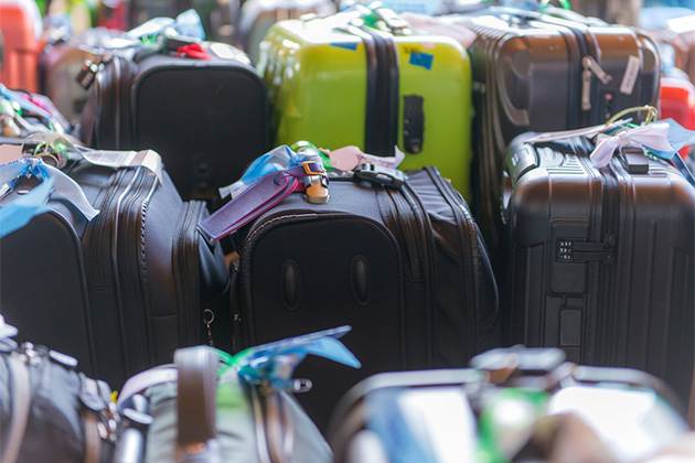 Group of luggage bags