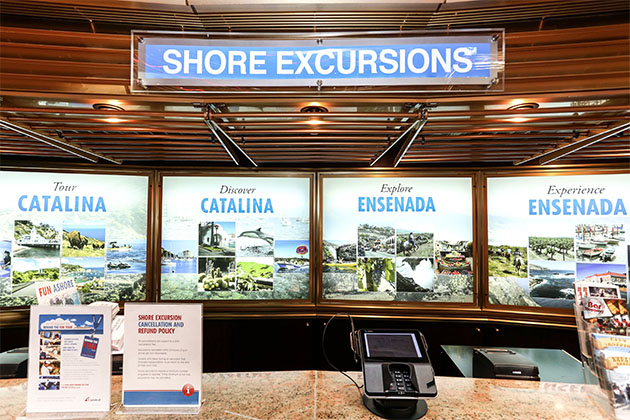 Shore Excursions Desk on Carnival Imagination